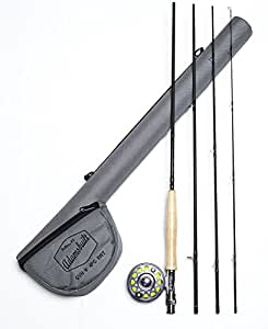 Adamsbuilt Fly HO1 Rod and Reel Combo with Case, 9-Feet, Black