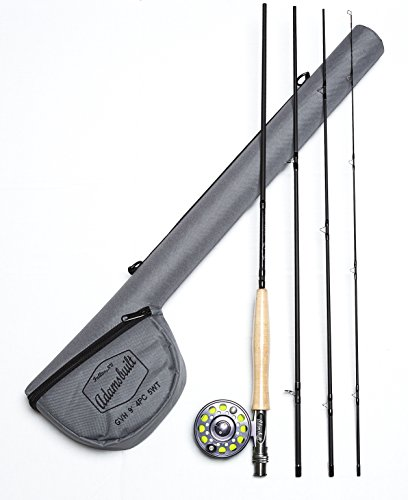 Adamsbuilt Fly HO1 Rod and Reel Combo with Case, 9-Feet, Black by Adamsbuilt