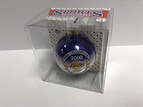 - Los Angeles Lakers 2000 2001 NBA Champions Back to Back Holiday Ornament