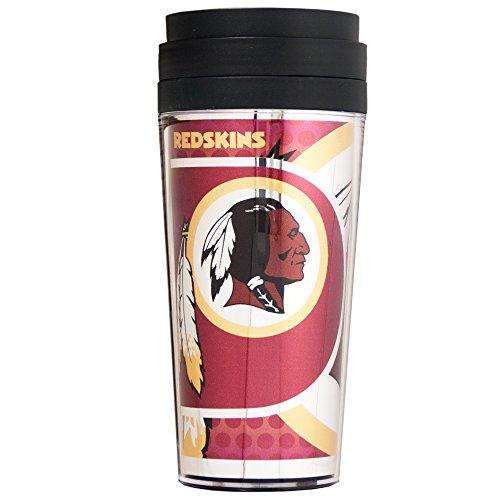 NFL Washington Redskins Acrylic Travel Tumbler with Metallic Graphics, 16 oz., Black