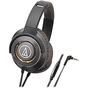 Audio-Technica ATH-WS770iSGM Solid Bass Over-Ear Headphones, Gun Metal