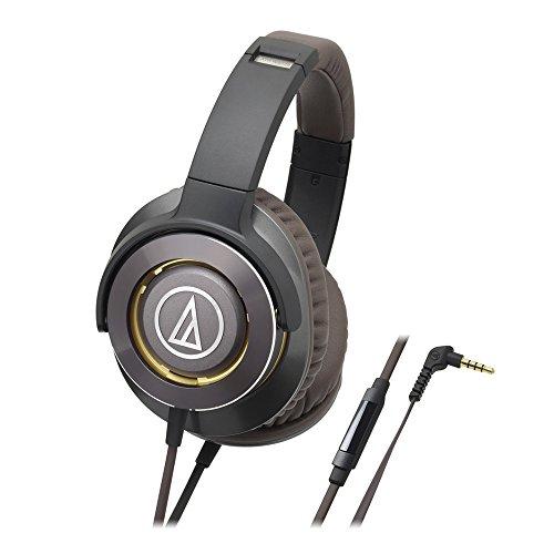 Audio-Technica ATH-WS770iSGM Solid Bass Over-Ear Headphones, Gun Metal