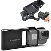 Yifant Hero 5 4 3 3+ Adapter Mount Switch Plate Board Accessories Aluminum Alloy for DJI Osmo Mobile Gimbal Handheld Holder Connecting Gopro 5 4 3+