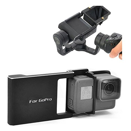 Yifant Hero 5 4 3 3+ Adapter Mount Switch Plate Board Accessories Aluminum Alloy for DJI Osmo Mobile Gimbal Handheld Holder Connecting Go-pro 5 4 3+