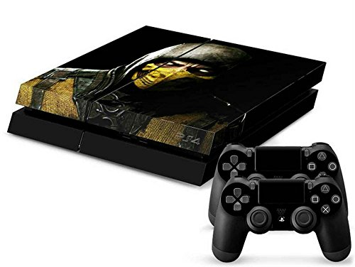 MODFREAKZ™ Console and Controller Vinyl Skin Set - Deadly Battle Scorpion Mortal Combat for Playstation 4
