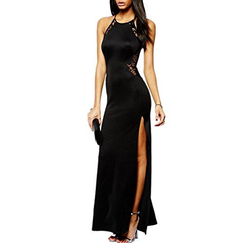lungo vestito cerimonia Nero MYWY elegante nero abito pizzo abito party carpet donna rosso pizzo AFwqxE1nxY