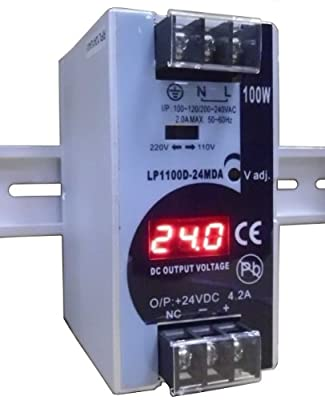 REIGNPOWER LP1100D-24MDA 100W 24VDC 4A Din Rail Power Supply Voltage Monitor Display