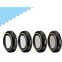 [UPGRADE] Powerextra 4-Pack DJI Mavic Pro & Platinum HD Lens Filters Kits (ND8 + ND4 + UV + CPL Filter) (Pass Gimbal Calibration)