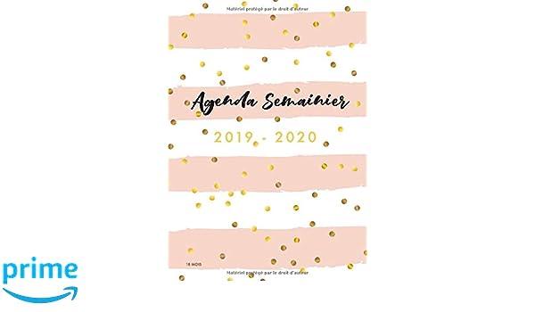 2019/2020 Agenda Semainier   18 Mois: Calendar ...