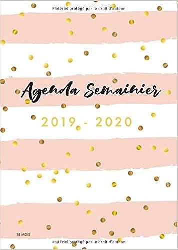 2019/2020 Agenda Semainier | 18 Mois: Calendar ...