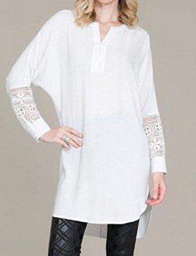 Coolred Femmes Asymétrique Taille Plus Détendue Robe De Soirée En Dentelle Épissure Ajustement Blanc