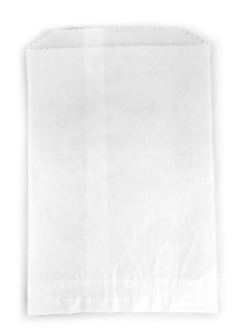 Glassine Waxed Paper Bag, Flat Glassine Lined Paper Gourmet Bags 6 x 7 x 3/4, (1000) by CulinWare (Image #1)