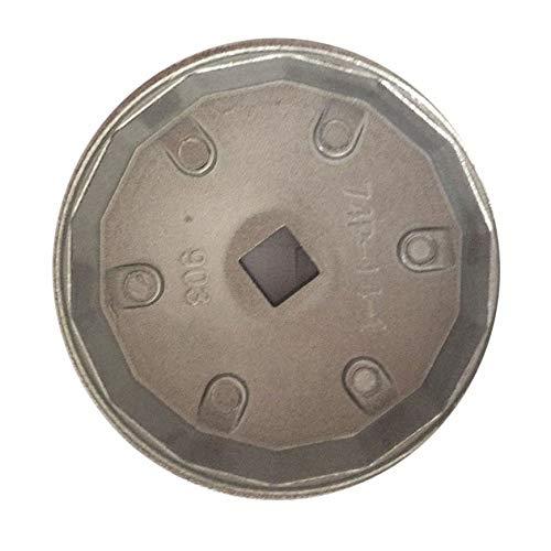 Plata Pudincoco Aluminio 903 filtro de aceite llave de casquillo 74MM