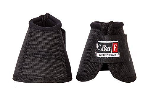 - Ballistic No Turn Bell Boots by Bar_F Equine Performance Products (Black, Large)