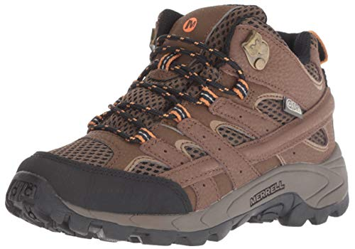 Merrell Boys' Moab 2 MID AC WTRPF Hiking Boot, Earth, 6 M US Big Kid