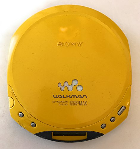 Sony D-E220 Portable CD Player Walkman Yellow with ESP MAX