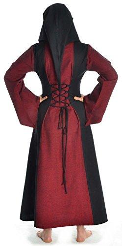Damen rot zum braun XL weiß mit Dunkelrot Gugel grün blau Schnüren S schwarz Kleid HEMAD Mittelalter d4qwntx8Hd