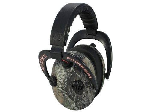 Walker's Game Ear Enhance Power Muffs Camo Quad for Shooting Range Hunting (GWP-PPMMO-K) (Quad Muffs Walkers Power)