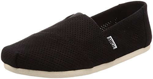 Footwear Synthetic Suede Black (TOMS Men's Seasonal Classics Black Perforated Synthetic Suede 10 D US)