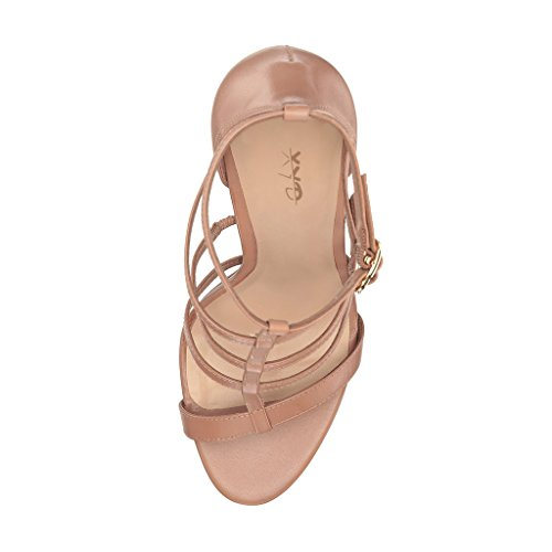 XYD Women Strappy Platform Sandals For Club Open Toe Dress Chunky High Heel Pump Shoes Nude cheap sale in China free shipping shop offer shopping online cheap online choice cheap online yQIsR9ryWk