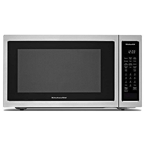 KitchenAid 21 3/4″ Countertop Convection Microwave Oven – 1000 Watt KMCC5015GSS