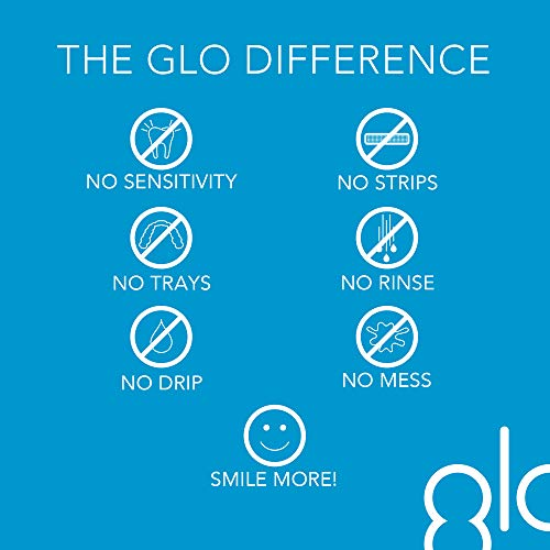 GLO Brilliant Deluxe Teeth Whitening Device Kit with Patented Blue LED Light & Heat Accelerator for Fast, Pain-Free…