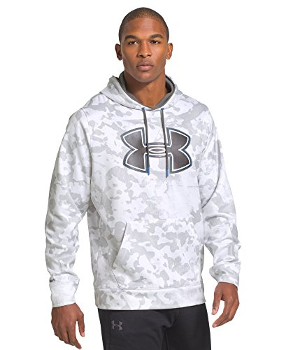Under Armour Men's UA Storm Armour Fleece Printed Big Logo Hoodie XX-Large White