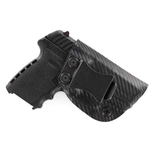 SCCY, Black Carbon Fiber, Kydex Concealment IWB Gun Holsters. Left & Right Versions Available.