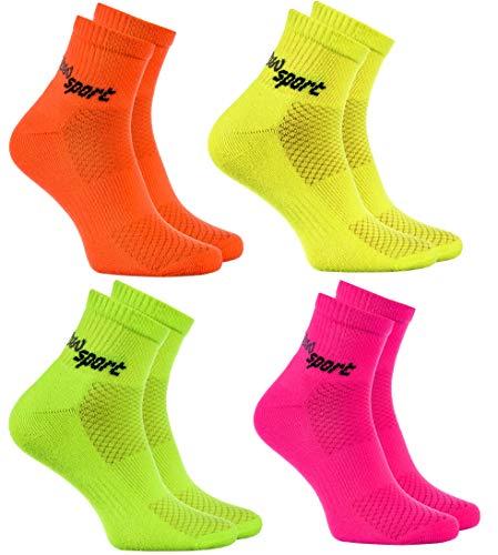 Rainbow Socks - Damen Herren Neon Sneaker Sportsocken