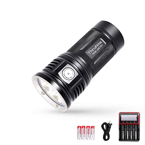 ThruNite TN36 Limited Version 11000 Lumen CREE XHP 70B LED Powerful Floody Flashlight, with ThruNite Charger MCC-4S included Cool White ...