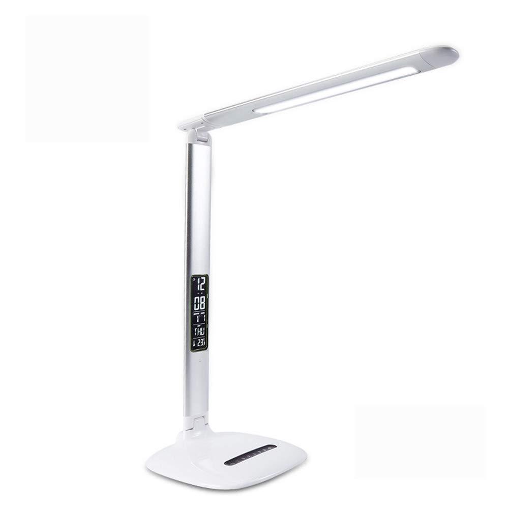 KANGLE LED Augenschutz Tischlampe Kalender Uhr Thermometer Multi-Winkel Klapp Lernen Büro Schlafzimmer Tischlampe Zu lösen