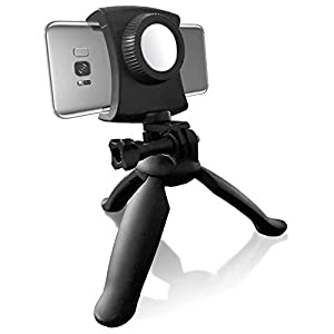 Lightweight Portable Smartphone Tripod and Adjustable Universal Phone Stand Holder for Mobile Phones and Small Cameras, Selfie Stick Function