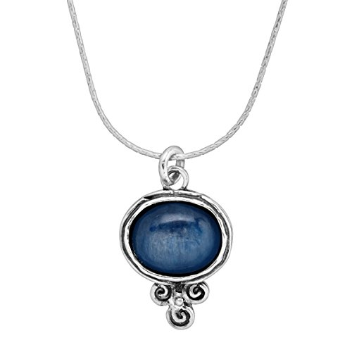 Silpada Passport To Paradise 5 ct Natural Kyanite Pendant Necklace in Sterling Silver