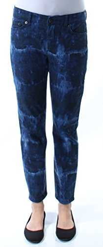 RALPH LAUREN Lauren Women's Cropped Skinny Jeans (2, Indigo Multi) (Trousers Ralph Lauren Cropped)