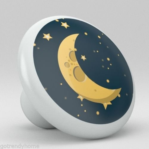 Cute Space Moon Stars Nursery Ceramic Knobs Pull Closet Dresser Drawer 2010