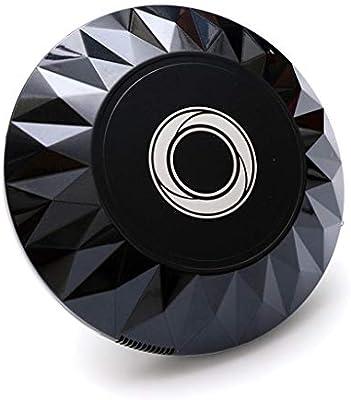 HUOLEO Carga USB Inteligente Robot Aspirador, Cara De Diamante Automatico Barredora Robots Aspiradores por Hogar Eliminación De Polvo-Negro: Amazon.es: Hogar