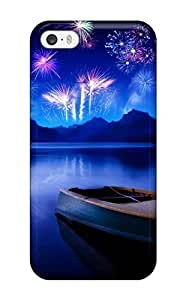 Fashionable Style Case Cover Skin For Iphone 5/5s- New Year 2010 Russian Celebration Fireworks Night