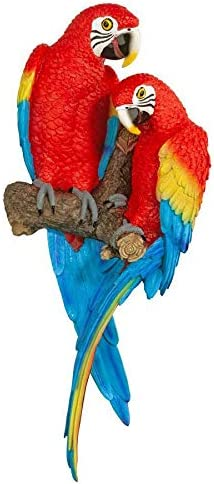 Design Toscano Tropical Scarlet Macaws Wall Sculpture