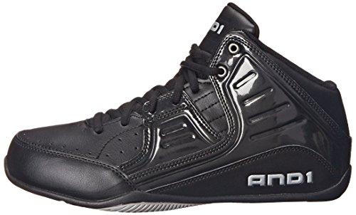 3cf3b3980f2b0 AND 1 Men's Rocket 4.0 Basketball Shoe, Black/Black-Silver, 11 ...