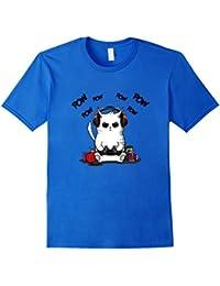 Gamer Cat T-Shirt Cute Kawaii Cat Gaming Shirt