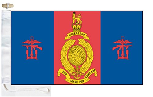 11 Squadron  Royal Marines Courtesy Boat Flag - 1 Yard  - Ro