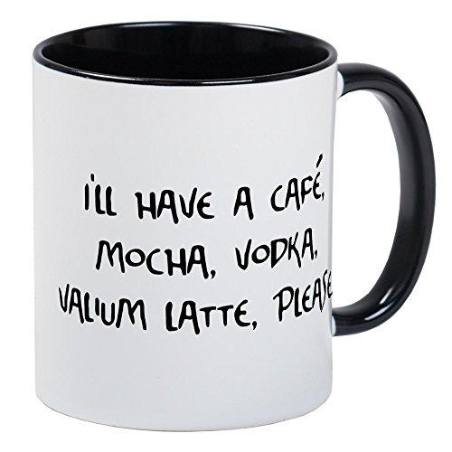 Mocha Vodka Cafe (CafePress - Cafe Mocha Vodka Valium Latte Mug - Unique Coffee Mug, Coffee Cup)