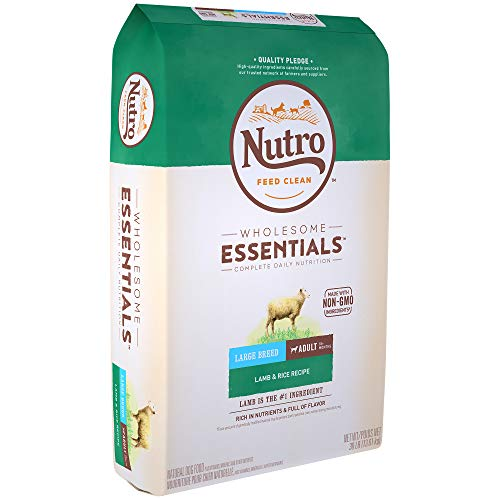 NUTRO WHOLESOME ESSENTIALS Adult Large Breed Natural Dry Dog Food Lamb & Rice Recipe, 30 lb. Bag