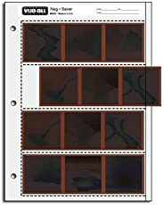 Vue-All Negative Saver Archival Storage Page, 6x6cm (120), 4-Strips of 3-Frames, (Horizontal) - 25 Pack