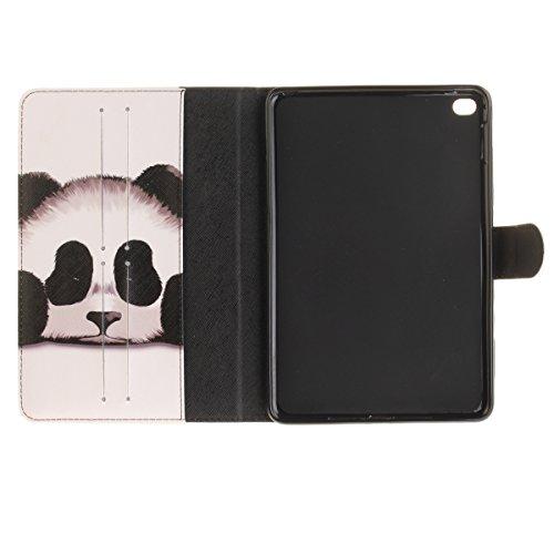 Funda para iPad Mini, Flip funda de cuero PU para iPad Mini 1 / 2 / 3, iPad Mini Leather Wallet Case Cover Skin Shell Carcasa Funda, Ukayfe Cubierta de la caja Funda protectora de cuero caso del sopor Panda