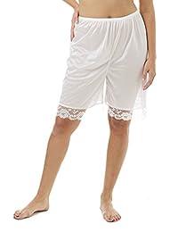 Underworks Pettipants Nylon Culotte Slip Bloomers Split Skirt 9-Inch Inseam
