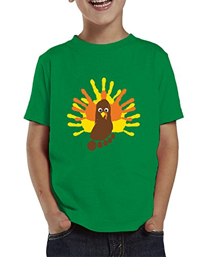 Turkey Painting Toddler T-Shirt, SpiritForged Apparel Kelly (Turkey Projects For Toddlers)