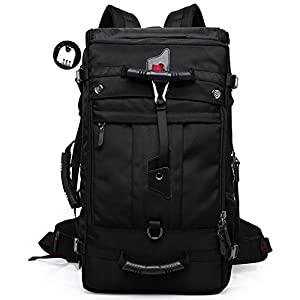 Mupack A-001 Travel Backpack Tactical Knapsack Hiking Climbing Camping Mountaineering Rucksack, 50 L, Black