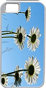 Blueberry Design iPhone 5 iPhone 5S Case white long color Leaves Flowers