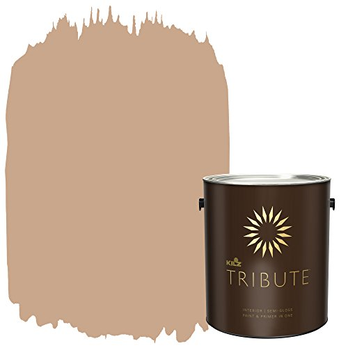 (KILZ TRIBUTE Interior Semi-Gloss Paint and Primer in One, 1 Gallon, Pottery Beige (TB-93))